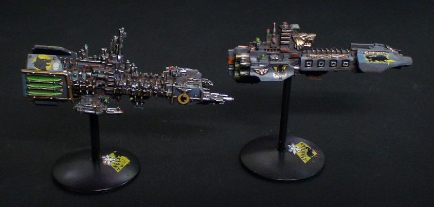 Storm Wolf And Stormblade Space Marine Strike Cruisers