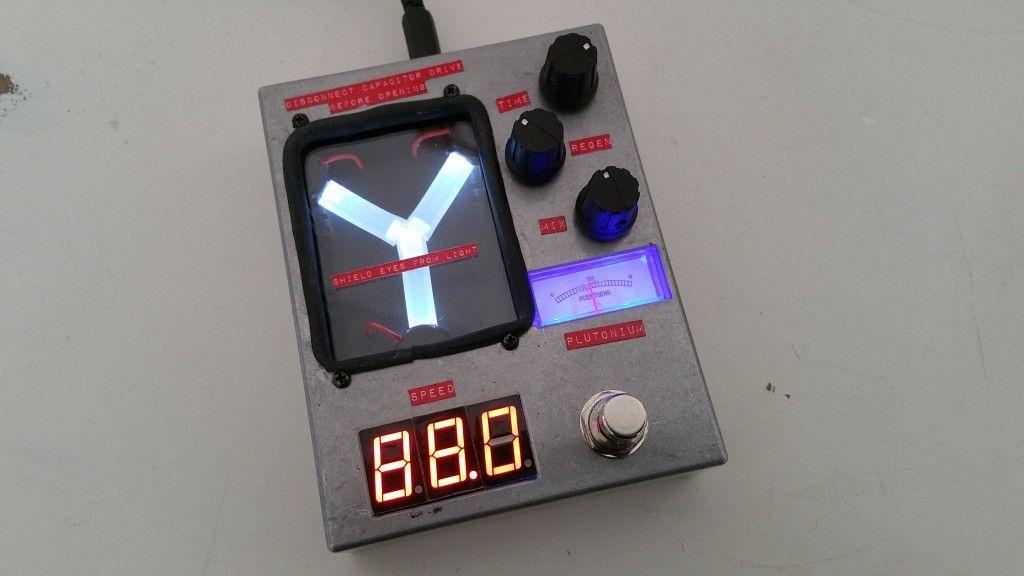 The flux capacitor delay pedal! 4114 Custom Guitar