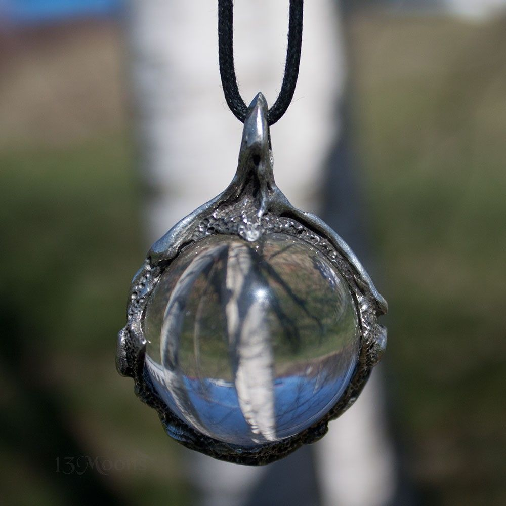 Clear quartz scrying ball pendant abby willowroot pinterest clear quartz scrying ball pendant aloadofball Images