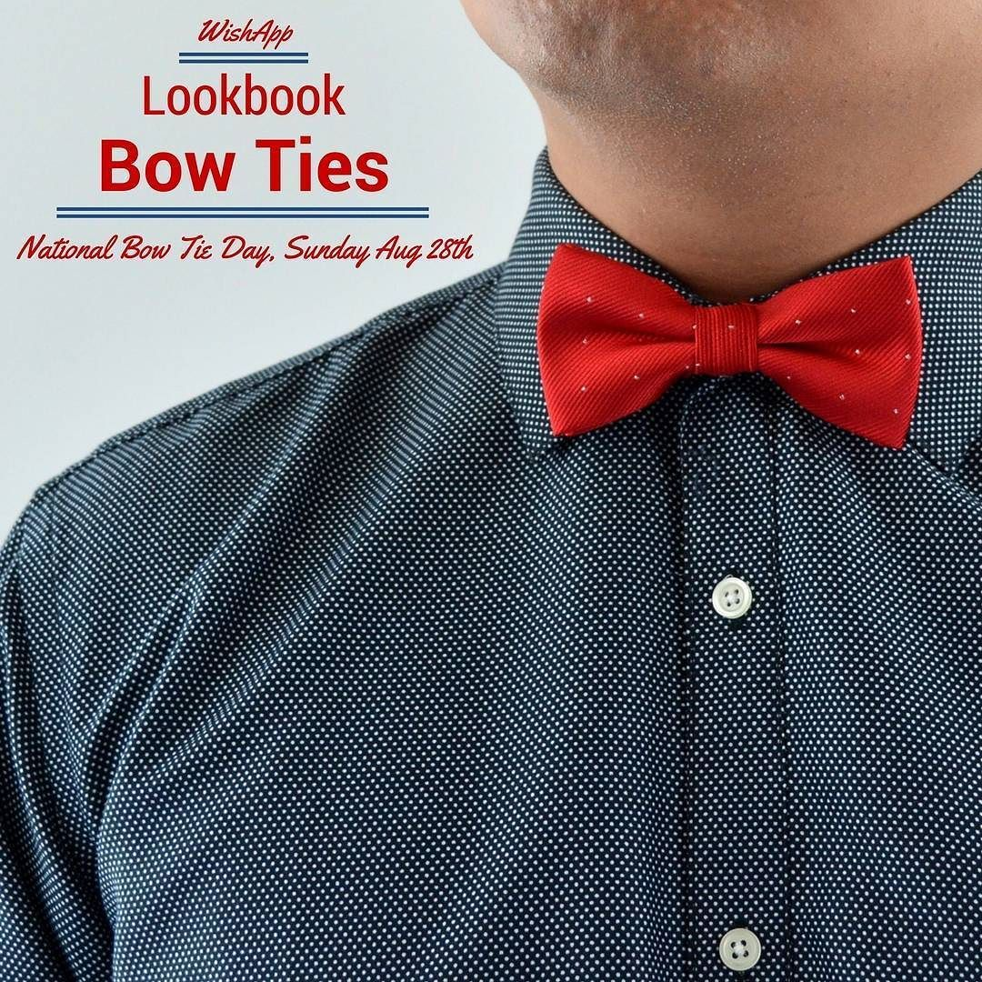 Happy #NationalBowtieDay! Head over to our Wish Shopping #YouTube channel to see our top #BowTie picks from the #WishApp. #dapper http://ift.tt/2brOn4T