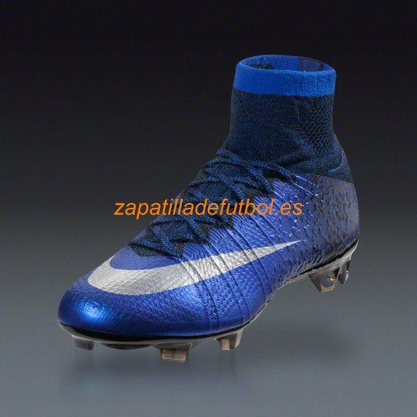 zapatillas futbol nike azul