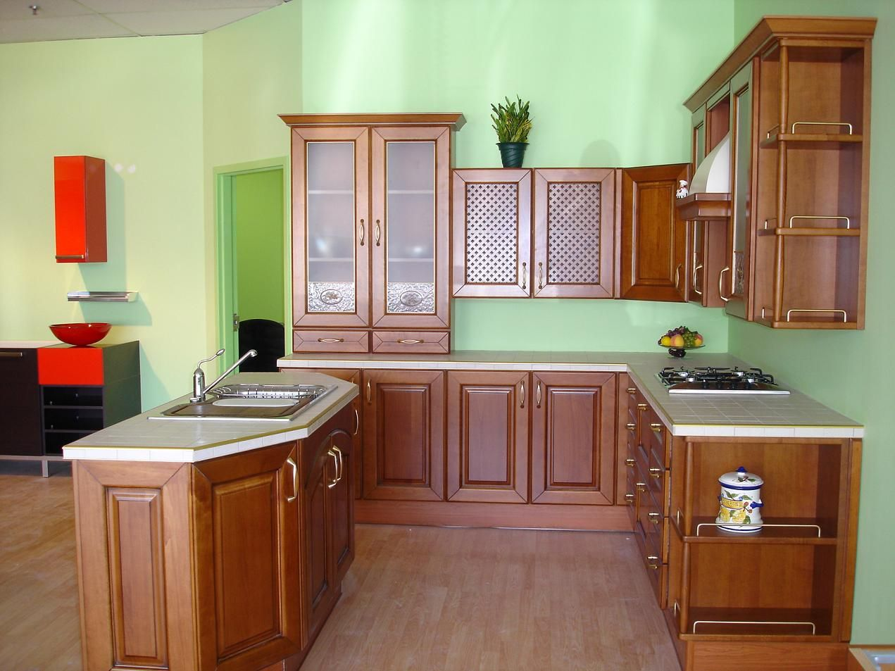 Bdcheerful Classic Italian Kitchen With Wood Cabinets  Dream Cool Designer Kitchen Colors 2018