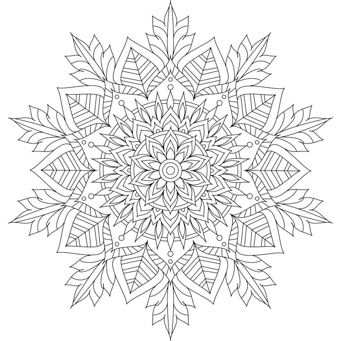 Pin By Jennifer Wilson On Dot Art Mandala Coloring Pages Snowflake Coloring Pages Coloring Pages