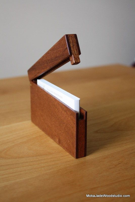 Slim Business Card Holder Mahogany Cool Idea For Some Scrap And A