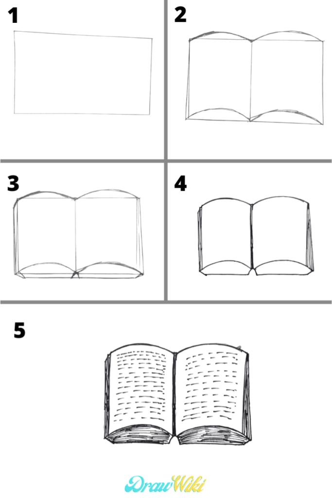 Open Book Drawing Easy : drawing, Drawing,, Drawing, Tattoo