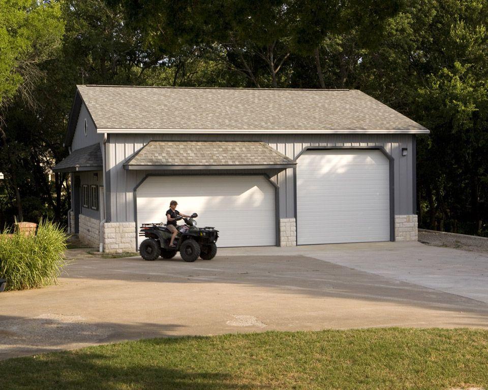 Morton Buildings garage in Lucas, Texas. Morton building