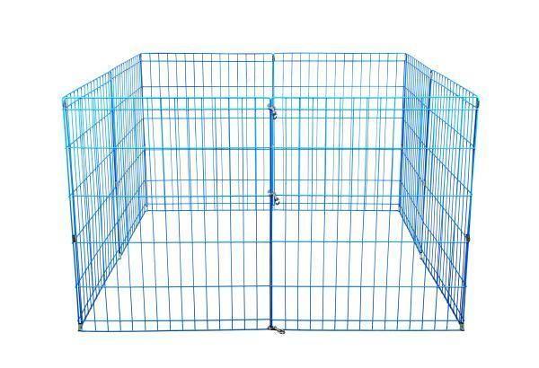 "New BestPet 42"" Blue Pet Dog Cat Play Exercise Pen Fence w/Case 4P Cage https://t.co/k9XFQgxyU7 https://t.co/gIx1gU1GSM"
