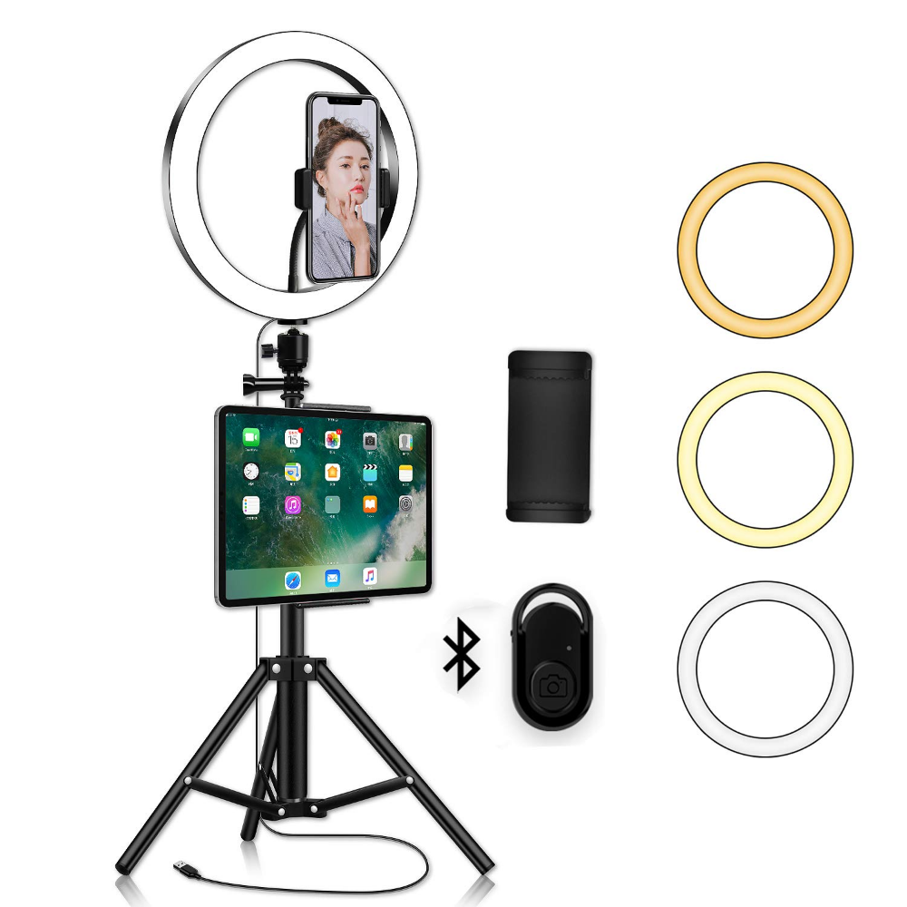 LED Ring Light with Phone Tripod Stand Kit