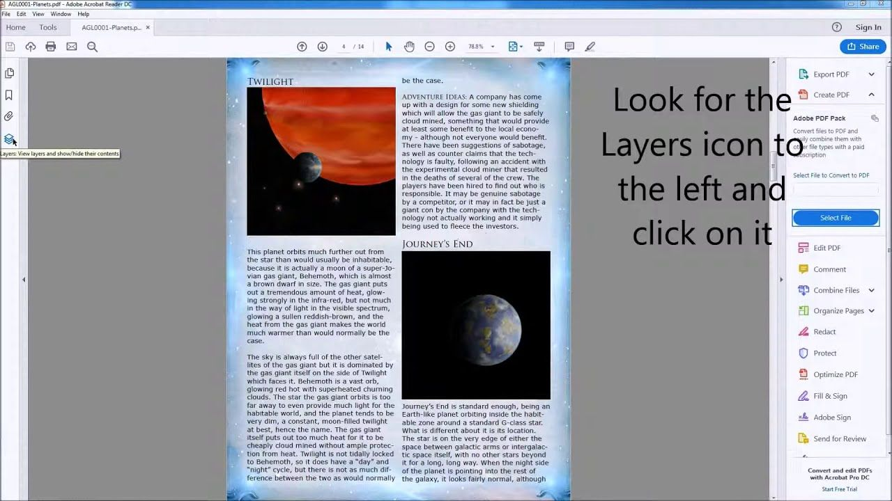 A video on how to enable and disable layers in PDFs for printing ...
