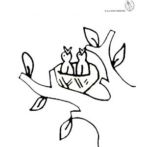 Disegno Di Nido Di Uccelli Da Colorare Disegni Di Animali Da