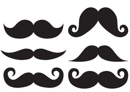 Moustache Template, varying styles and sizes. Pick the style you ...