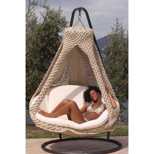 Poltrona pensile NIDO - MATRIMONIALE con cuscino, amaca per giardino - LRA2011 in Sport e viaggi, Palestra, fitness, corsa, yoga, Attrezzi e accessori | eBay