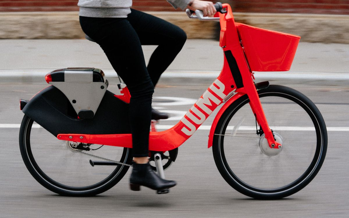 Jump From Uber Electric Bike Rentals 2 For 30 Minutes Will Run For Miles Electric Bike Electric Bicycle Bike Share