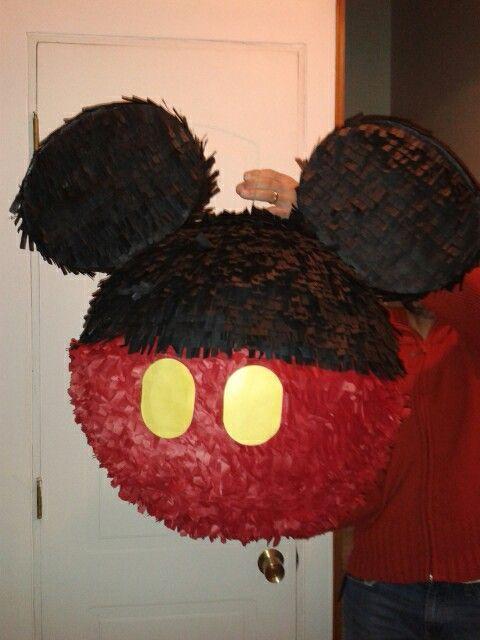 Piñata de Mickey Mouse fácil de hacer en casa! | decoración ...