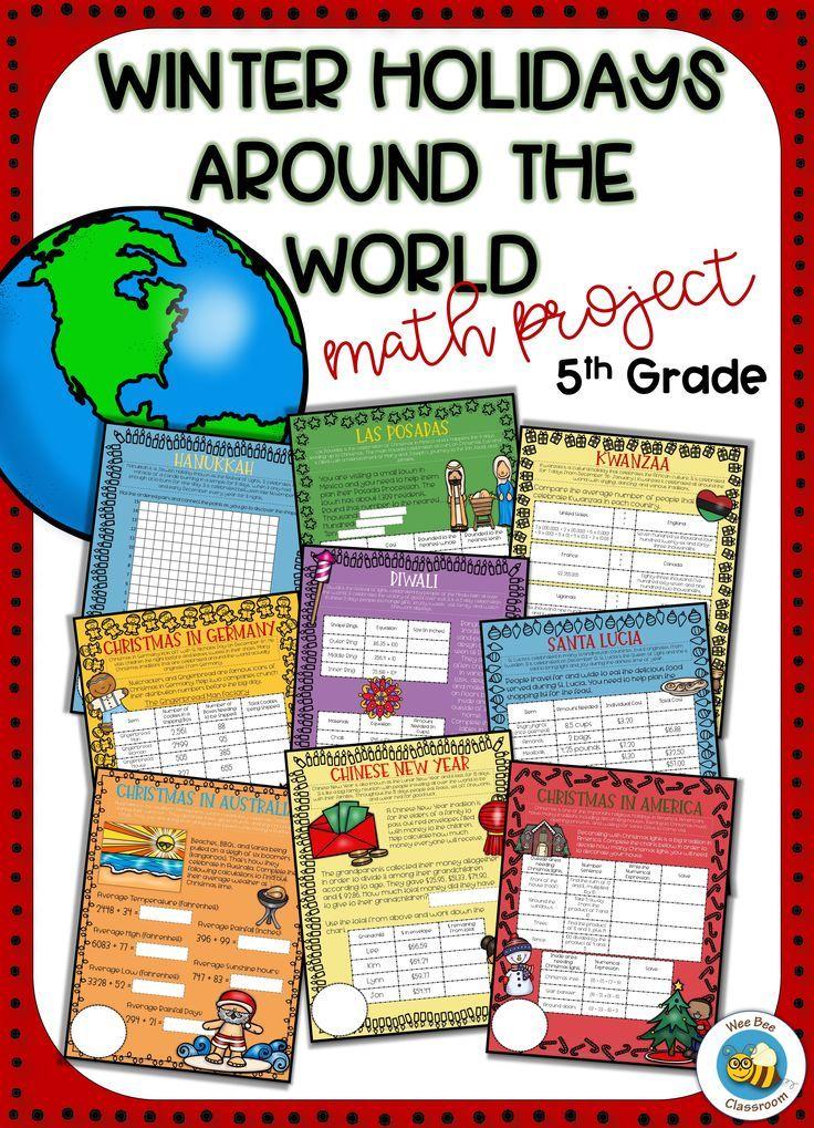 Winter Holidays Around the World Math Christmas Around