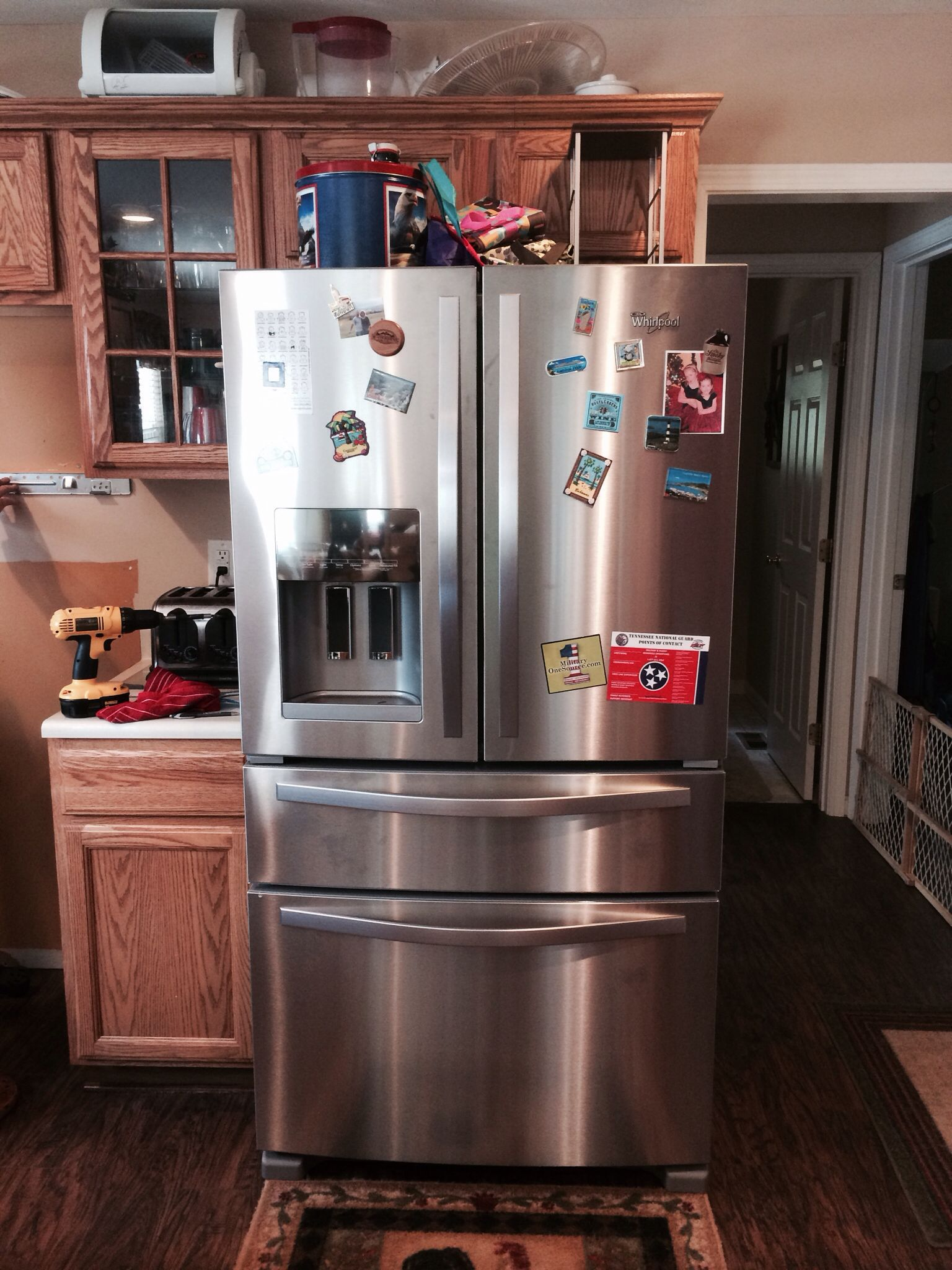 New Fridge French Doors Kitchen Appliances Home