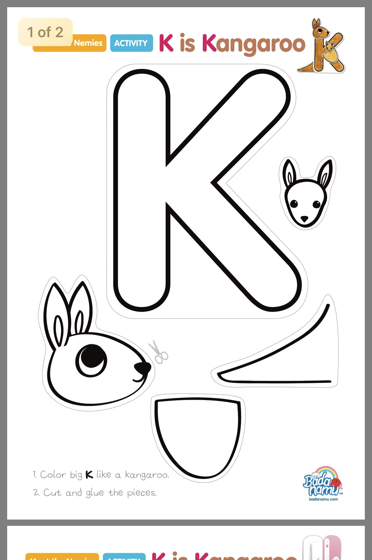 Art for zoo phonics book Letter k crafts, Alphabet