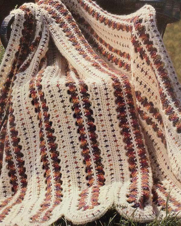 Indian Summer Afghan Crochet Pattern | Wolldecke und Häkeln