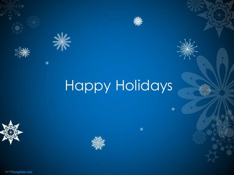 Animated Happy Holidays PPT Template Places to Visit Ppt