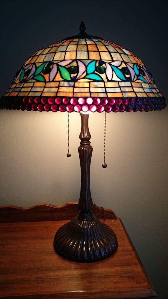 Beautiful Vintage Tiffany Style Lamp Tiffany Style Lamp Glass Lamp Lamp