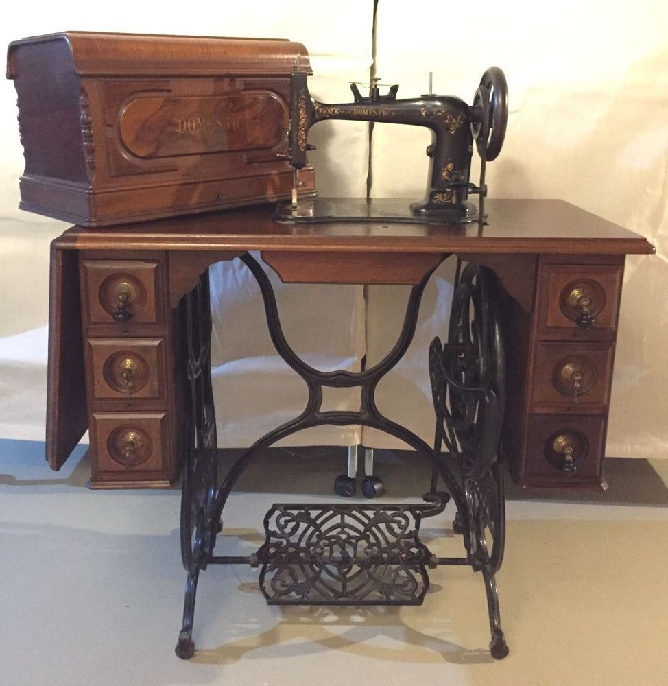 Brilliant Details About Antique Singer Treadle Sewing Machine Cabinet Home Interior And Landscaping Spoatsignezvosmurscom