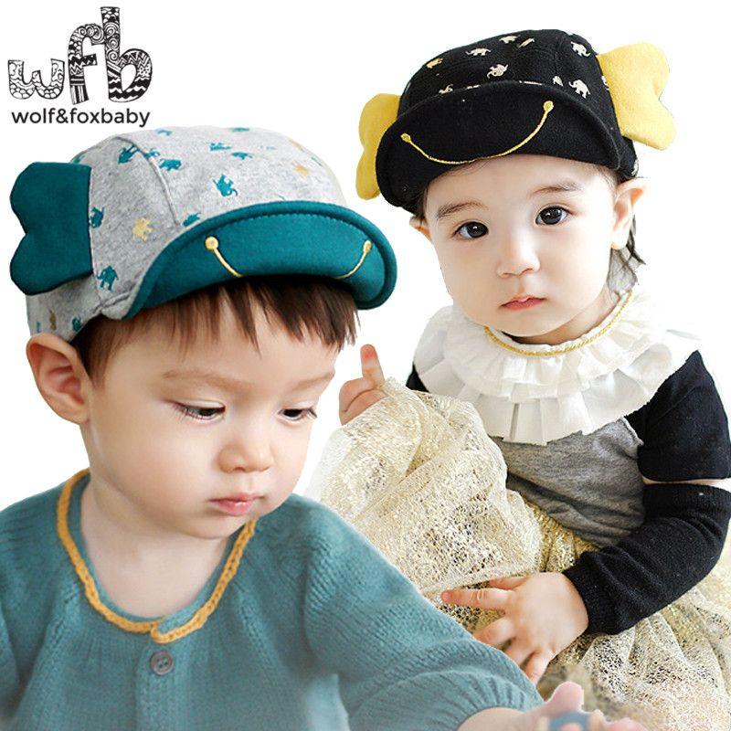 f43c0ae3c0427 Retail 0-4 years 50CM baseball cap hats Soft brim touca baby ...