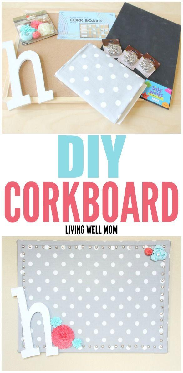 Diy Corkboard Gifts Diy Cork Board Diy Easy Diy