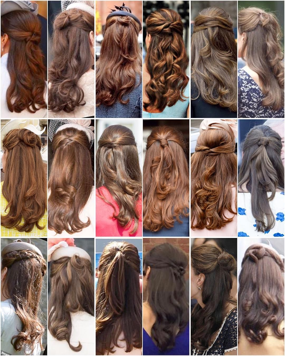 Kate S Beautiful Half Updo S Notice That Each One Is Slightly Different I Never Knew There Were So Many Different Wa Kate Middleton Hair Hair Styles One Hair