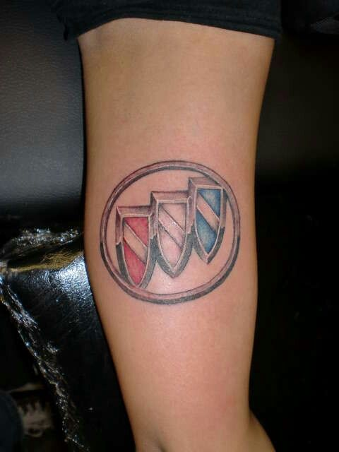 Buick tattoo, would need to throw in a little gold on the ring.