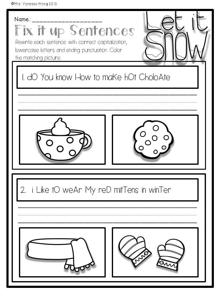 winter math and literacy no prep printables first grade literacy activities vocabulary words. Black Bedroom Furniture Sets. Home Design Ideas