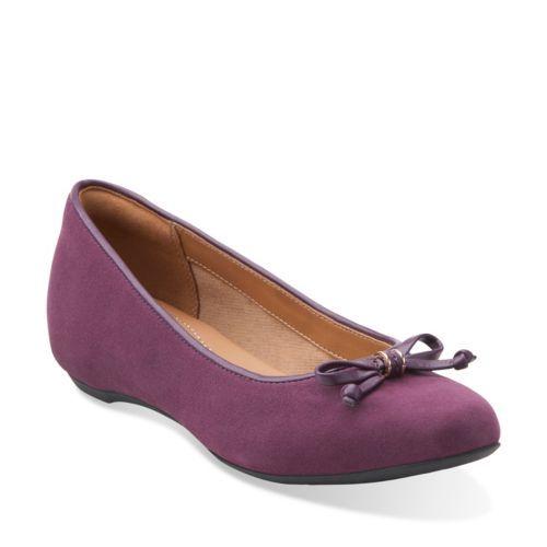 purple clarks shoes ladies