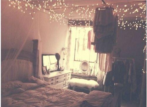 Tumblr Bedroom Fairy Lights Design Ideas  Pinterest - Fairy lights bedroom ideas
