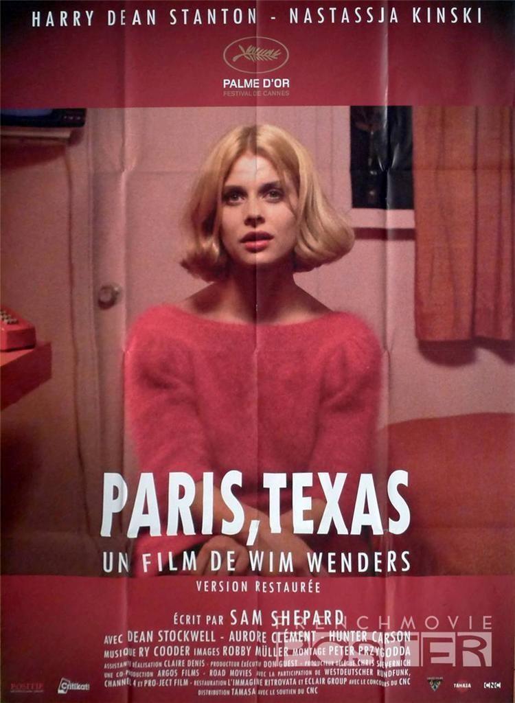 Paris Texas Wim Wenders Nastassja Kinski Reissue Large French Movie Poster Ebay Film Sam Shepard Texas