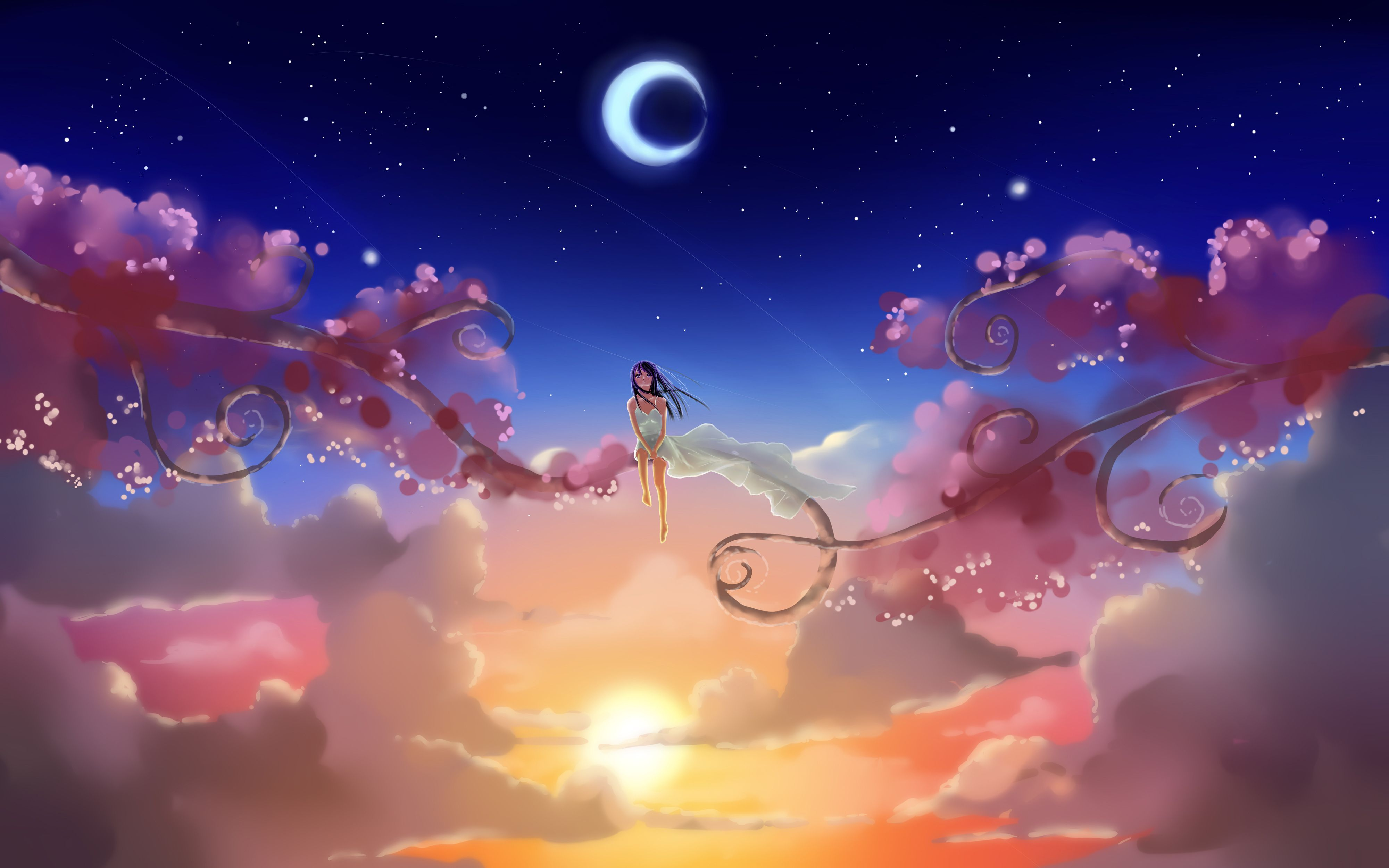Imagine Papel De Parede Anime Cenario Anime Menina Anime