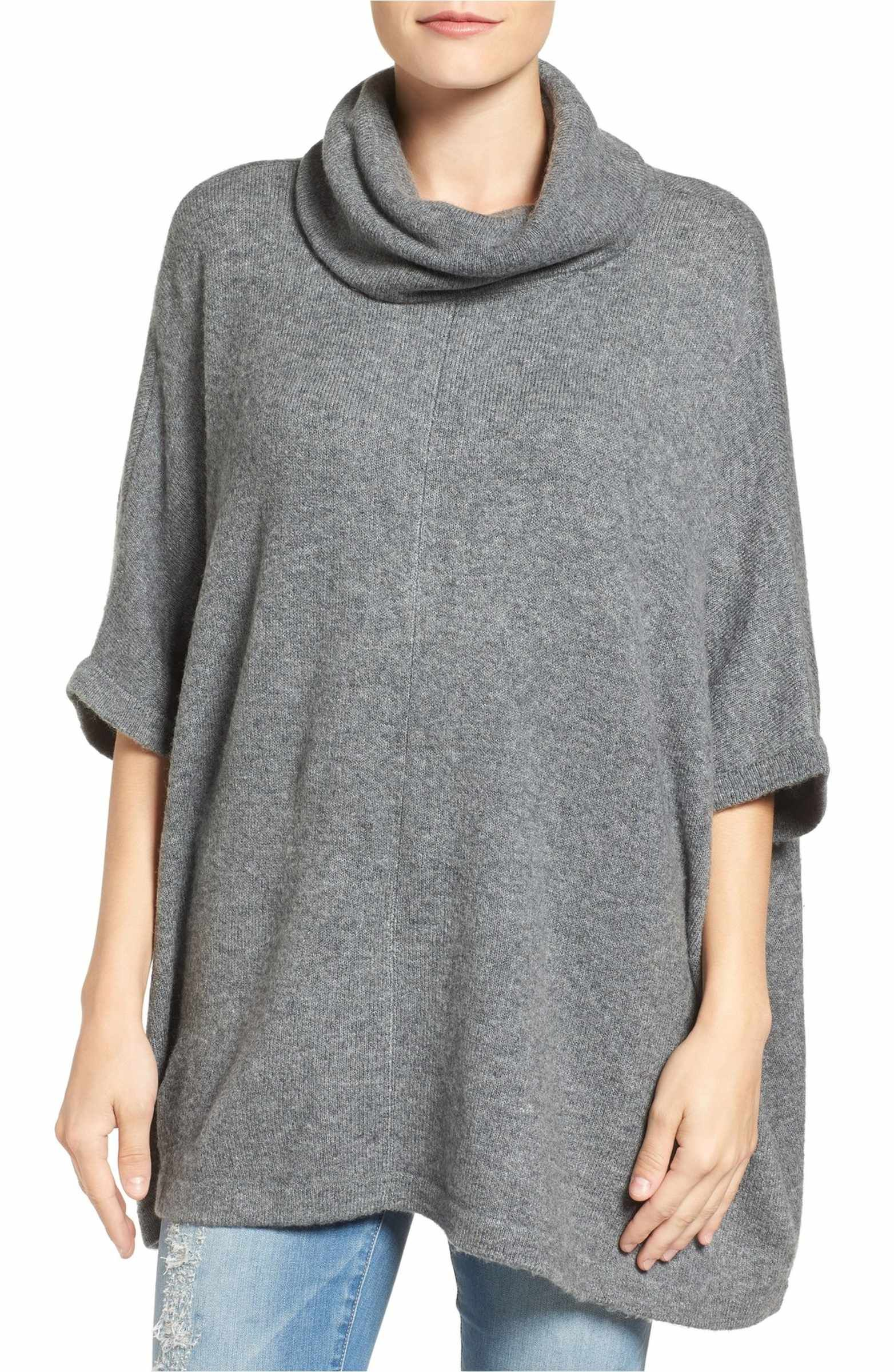 Cowl Neck Sweater Poncho | Cowl neck and Ponchos