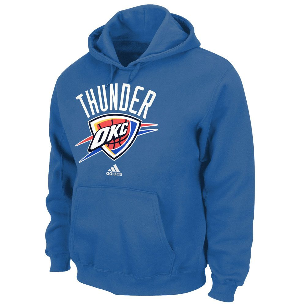 save off c10ad aa4f4 Oklahoma City Thunder Aqua Pullover Hoodie Sweatshirt by ...