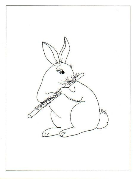 A Very Bunny Flute Player