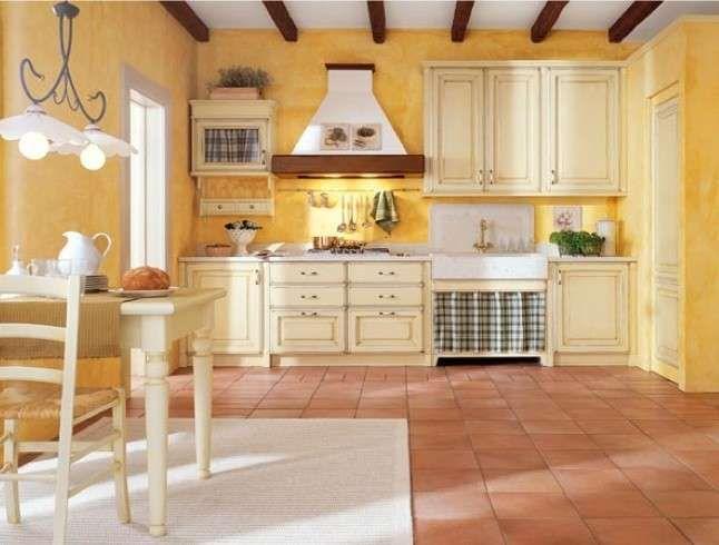Abbinamento colori pareti cucina - Giallo e avorio | Pinterest