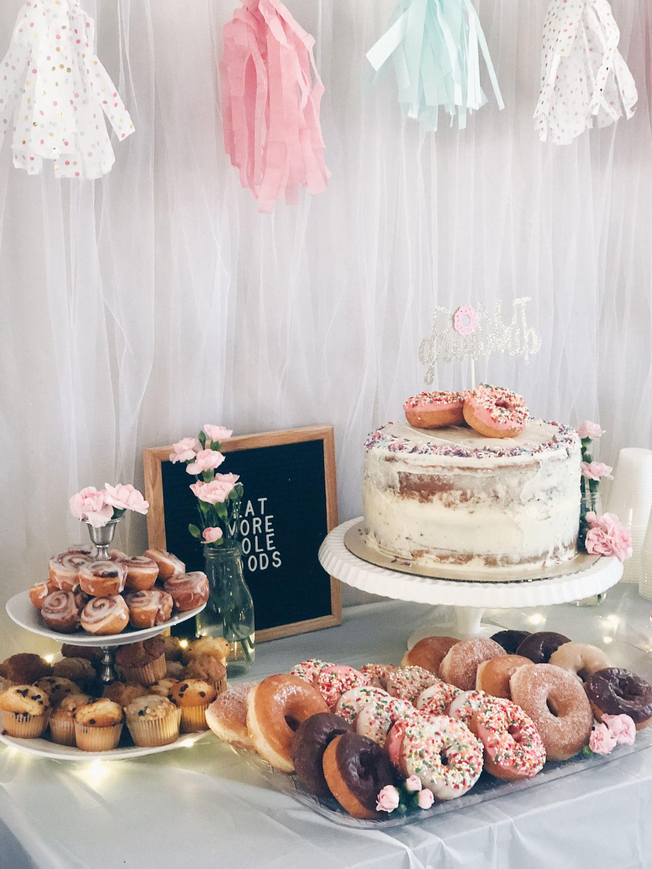 Donut Grow Up Birthday Party Inspiration Donut Birthday Parties Birthday Party For Teens Birthday Party Food