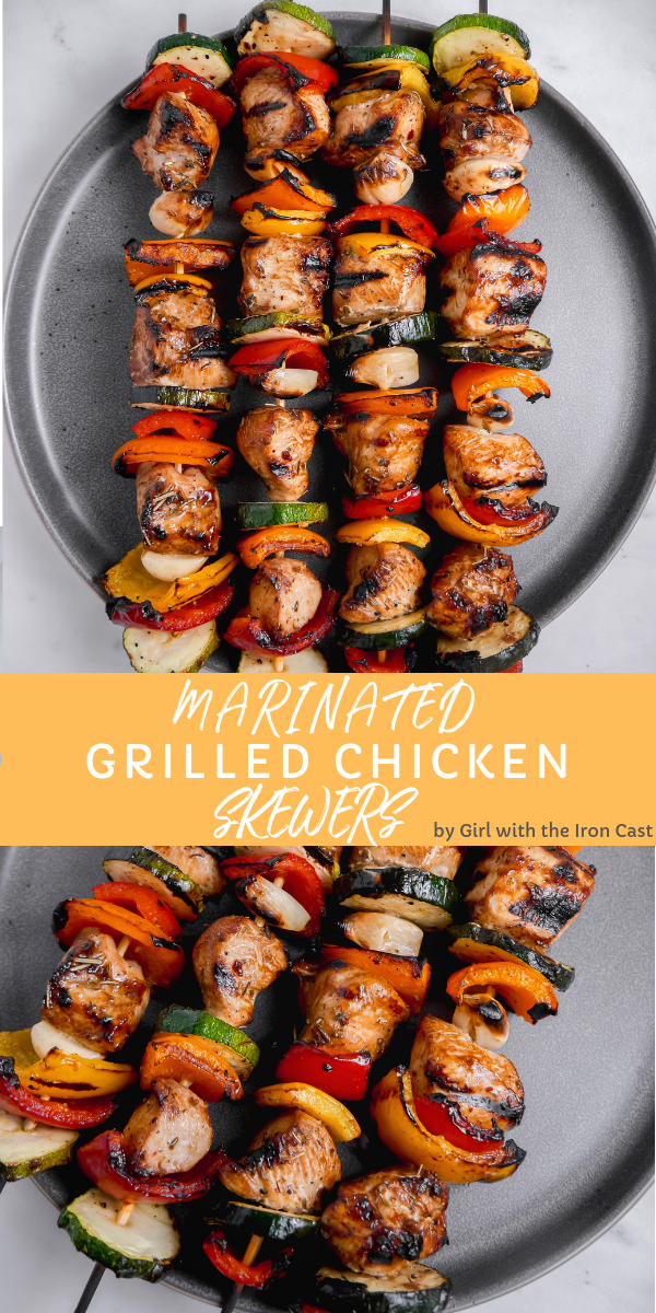 The Best Grilled Chicken Marinade #chickenkabobmarinade