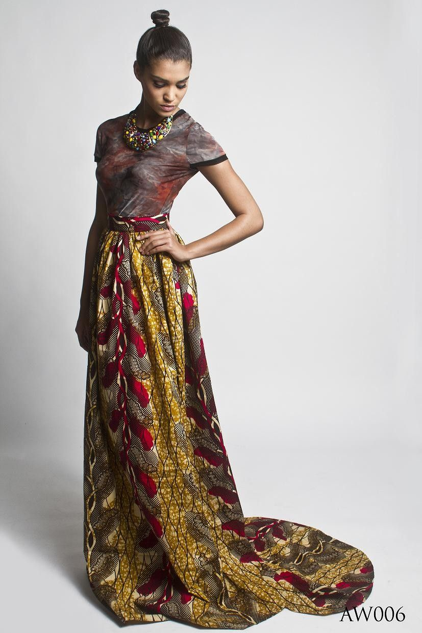 African print maxi skirt....it can be dressed up for a formal ...