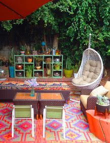 Colorful Bohemian Outdoor Spaces & How to Get the Look {bohemian ...