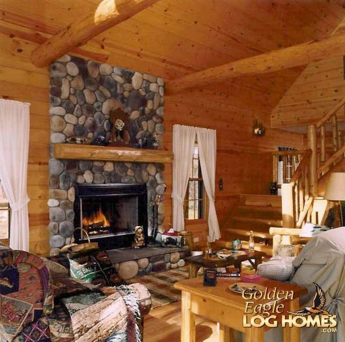 Log home interior ideas great room view   home decor  pinterest  golden eagle logs