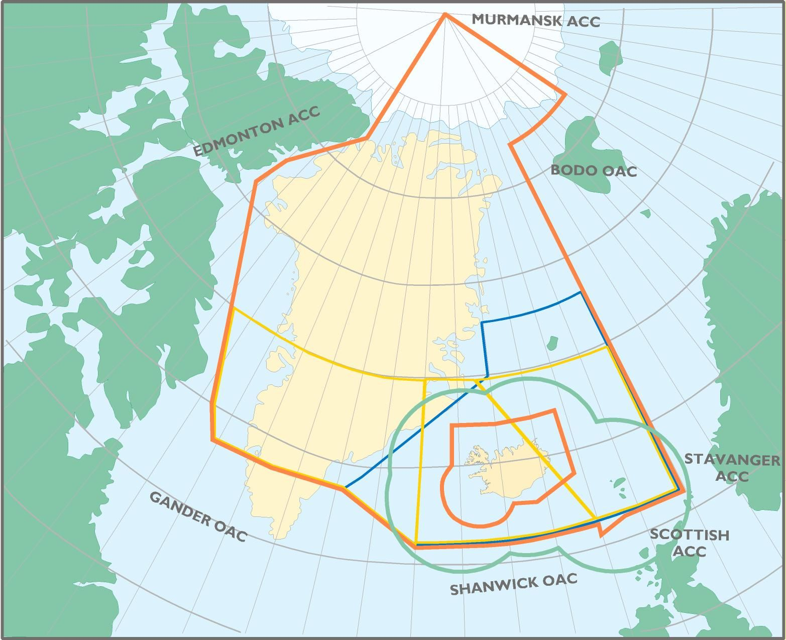 Radar coverage and adsb coverage in iceland atc bird area