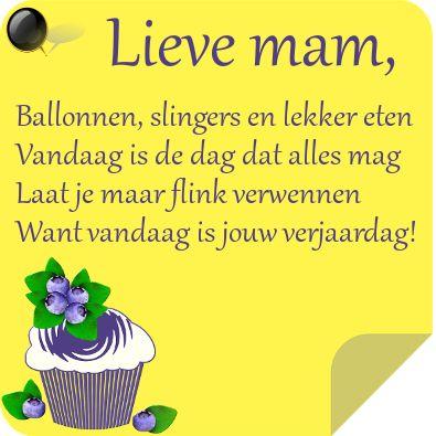 Lieve Mama Gefeliciteerd Verjaardag Moeder