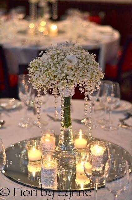 centros de mesa con velas y espejos. #decoracionvelas … | casas | roman…