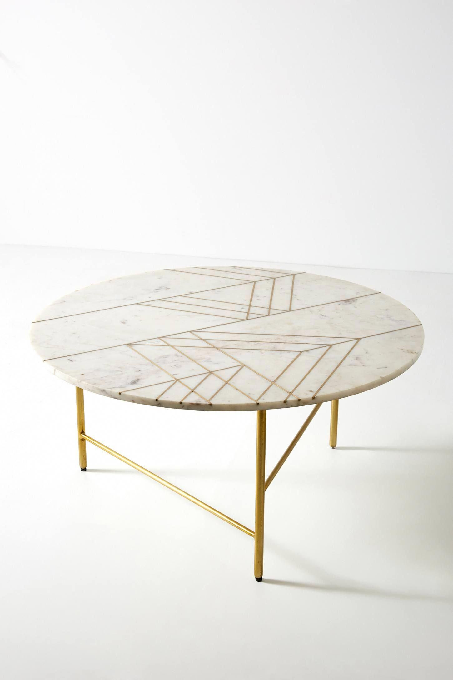 Pieced Marble Coffee Table Anthropologie Marble Round Coffee