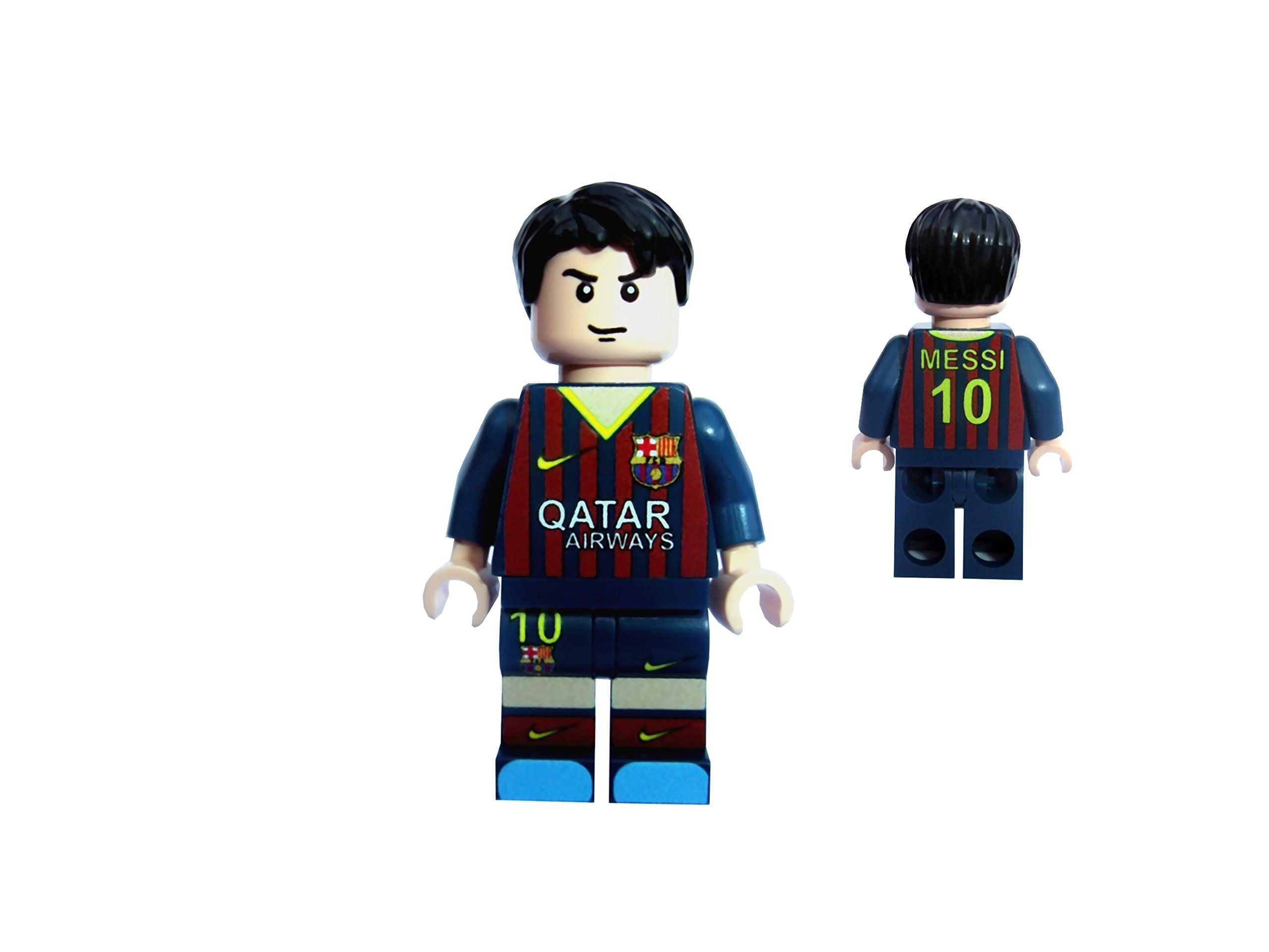 uk availability a9066 7db77 Lionel Messi football figure in Barcelona home kit custom ...