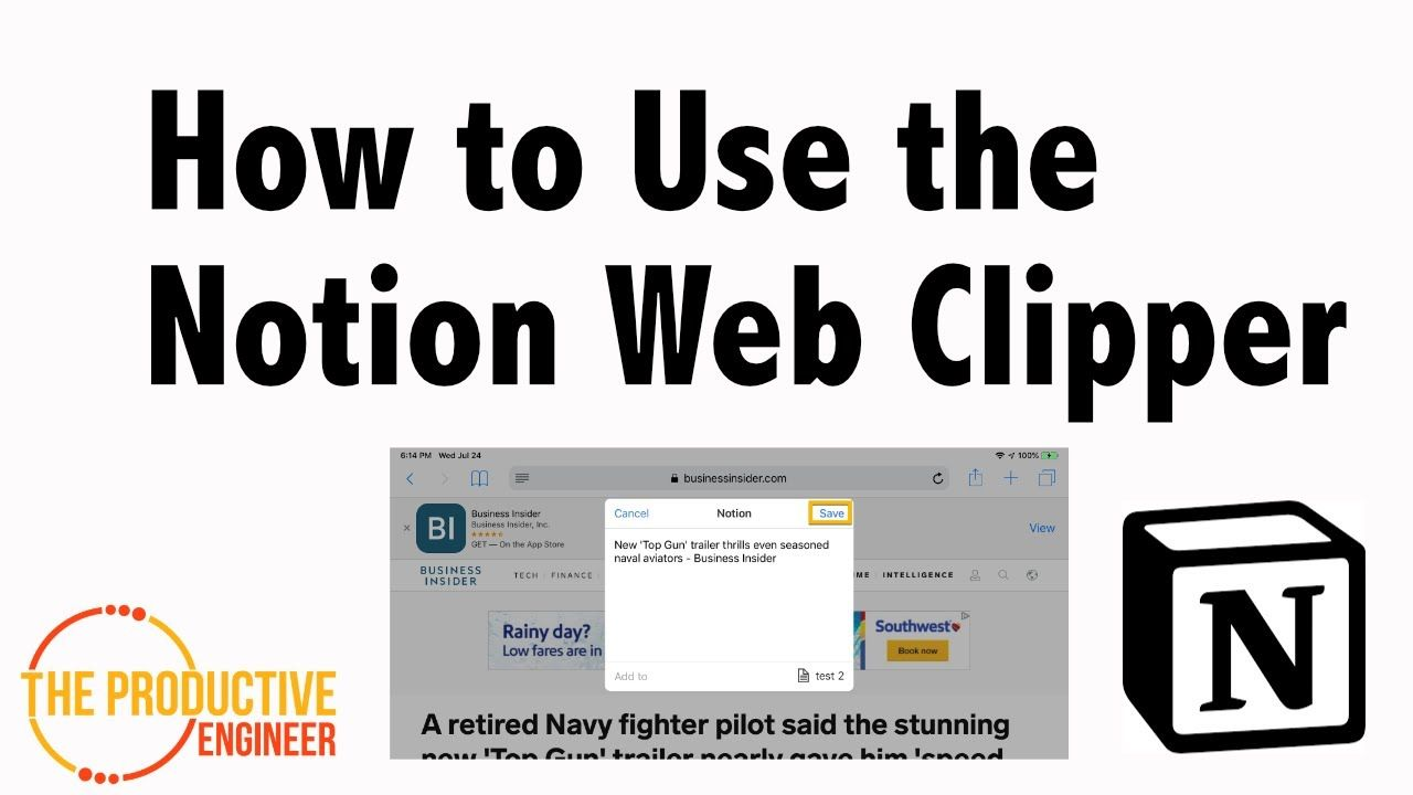 How To Use The Notion Web Clipper Notions About Me Blog Productivity Tools