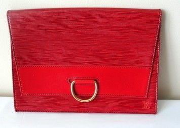 Louis Vuitton Lv Portfolio Ipad Case Red Clutch $450